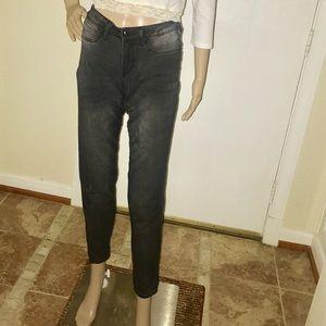 Denim - Charcoal Grey / Gray Skinny Jeans
